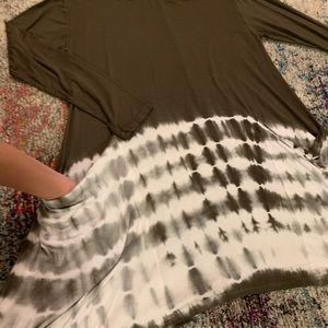 She and Sky Dresses - Long sleeve tie dye tunic/ dress